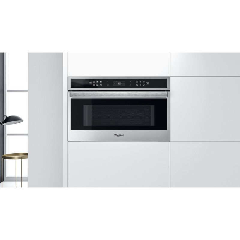 Whirlpool-Microonde-Da-incasso-W6-MD460-Stainless-Steel-Elettronico-31-Microonde-combinato-1000-Lifestyle-frontal