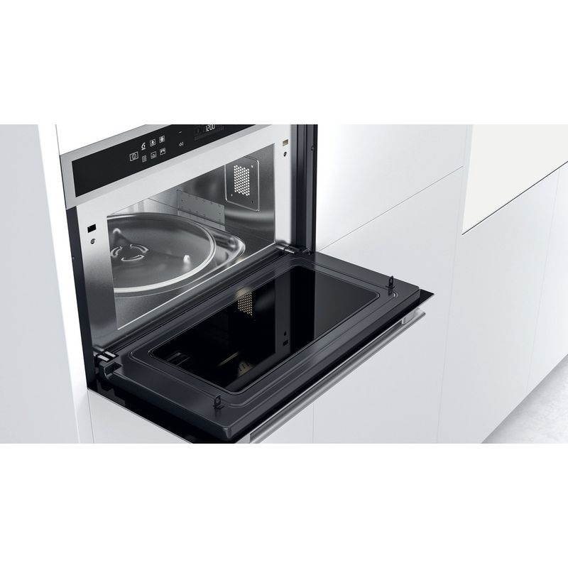 Whirlpool-Microonde-Da-incasso-W6-MD460-Stainless-Steel-Elettronico-31-Microonde-combinato-1000-Lifestyle-perspective-open