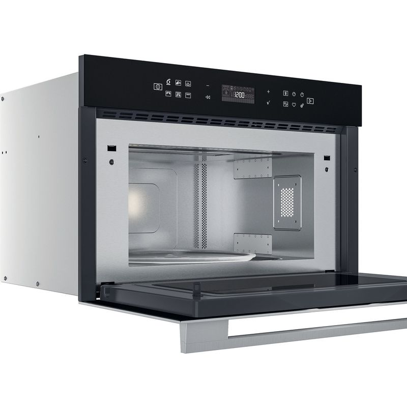 Whirlpool-Microonde-Da-incasso-W7-MD440-NB-Nero-Elettronico-31-Microonde---grill-1000-Perspective-open