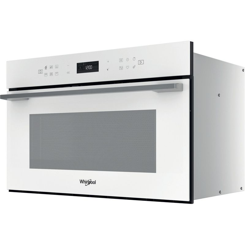 Whirlpool-Microonde-Da-incasso-W7-MD440-WH-Bianco-Elettronico-31-Microonde---grill-1000-Perspective