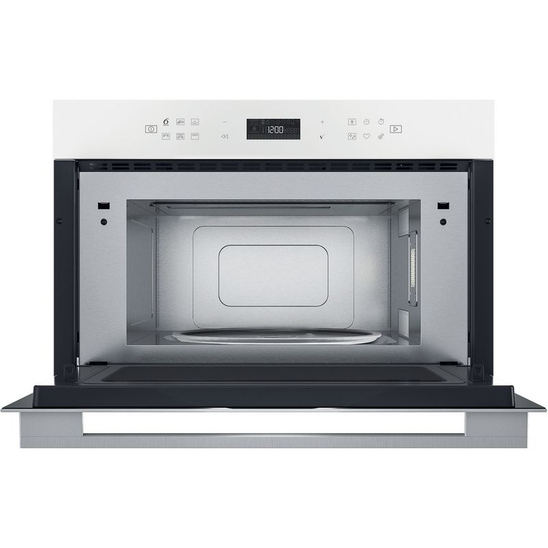 Whirlpool-Microonde-Da-incasso-W7-MD440-WH-Bianco-Elettronico-31-Microonde---grill-1000-Frontal-open