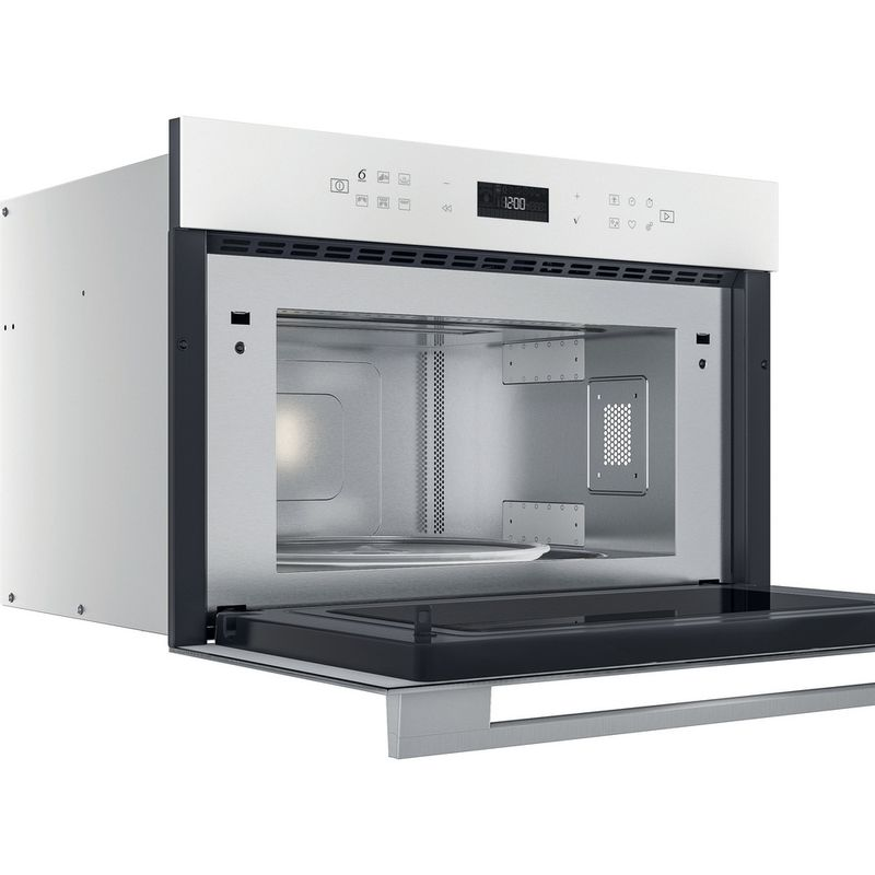 Whirlpool-Microonde-Da-incasso-W7-MD440-WH-Bianco-Elettronico-31-Microonde---grill-1000-Perspective-open