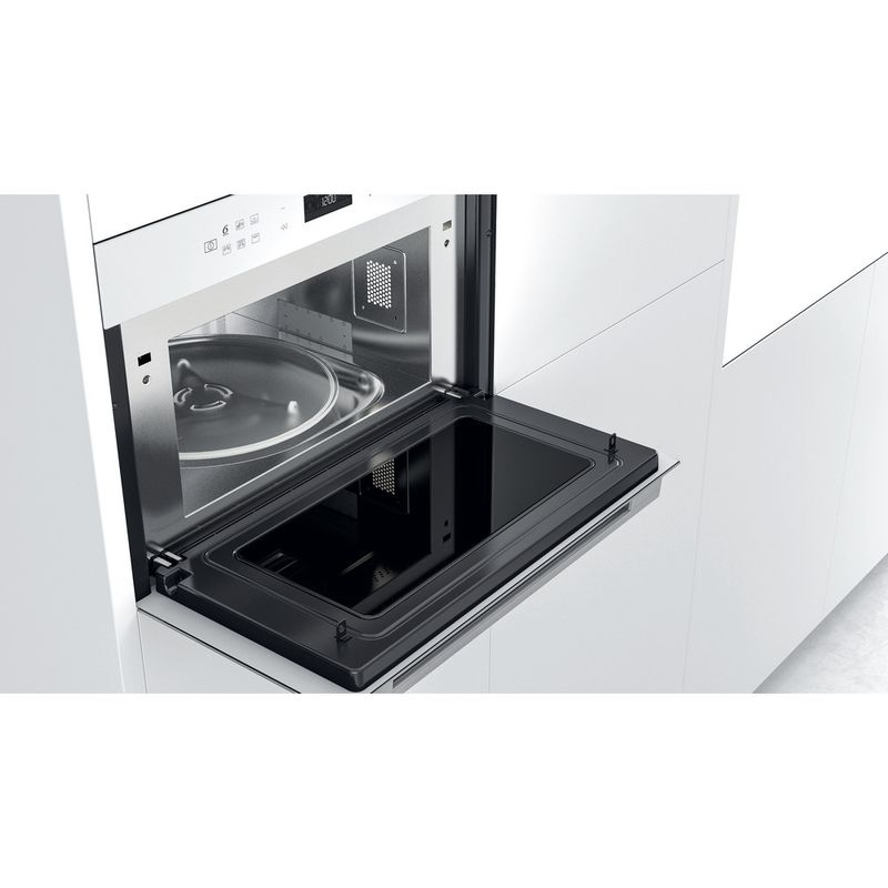 Whirlpool-Microonde-Da-incasso-W7-MD440-WH-Bianco-Elettronico-31-Microonde---grill-1000-Lifestyle-perspective-open