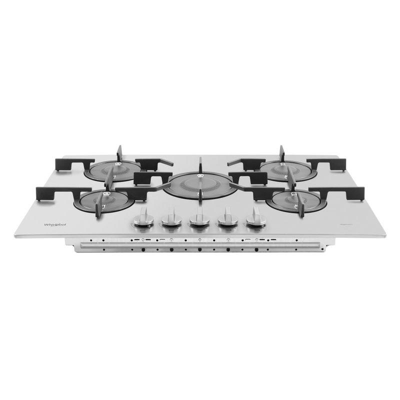 Whirlpool-Piano-cottura-PMW-75D2-IXL-Inox-GAS-Frontal-top-down
