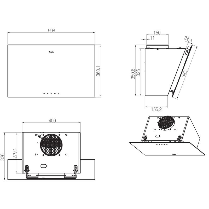 Whirlpool-Cappa-Da-incasso-AKR-037-G-BL-Nero-A-libera-installazione-Meccanico-Technical-drawing