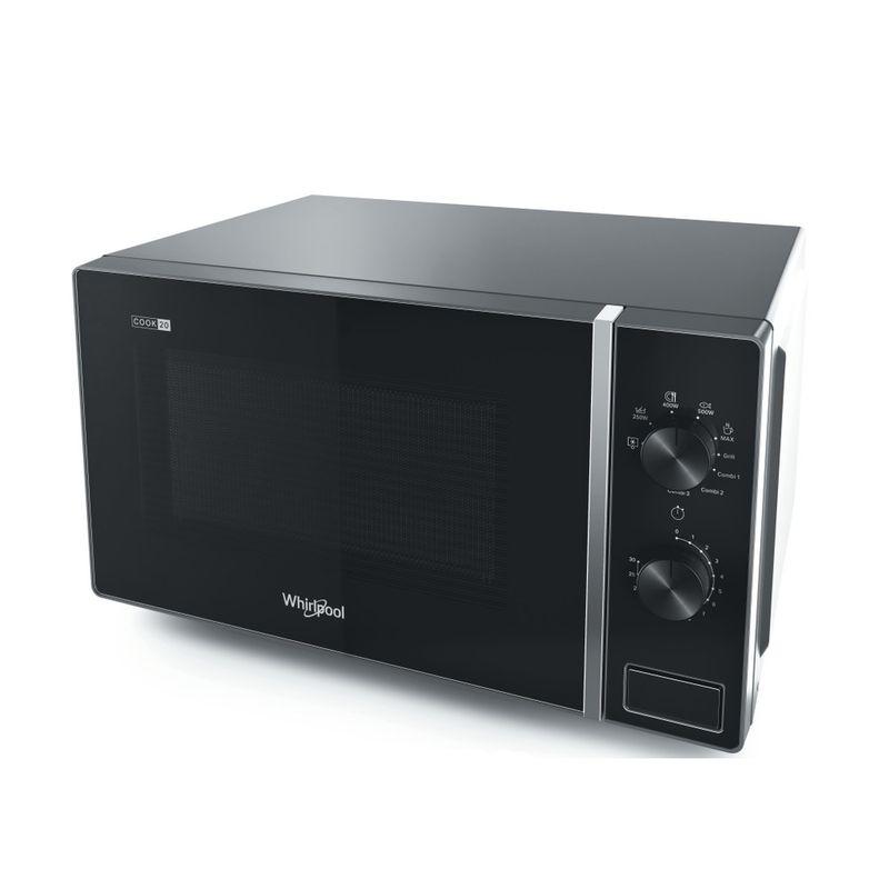 Whirlpool-Microonde-A-libera-installazione-MWP-103-SB-Silver-Black-Meccanico-20-Microonde---grill-700-Perspective