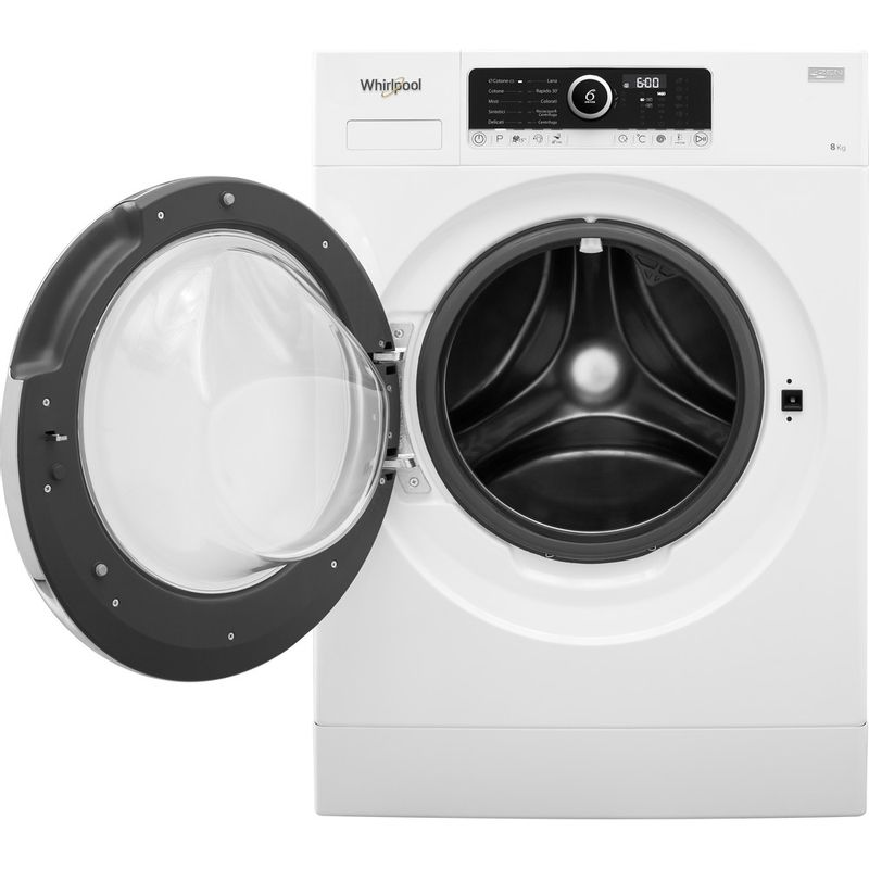 Whirlpool-Lavabiancheria-A-libera-installazione-BEST-ZEN-8-Bianco-Carica-frontale-A----Frontal-open