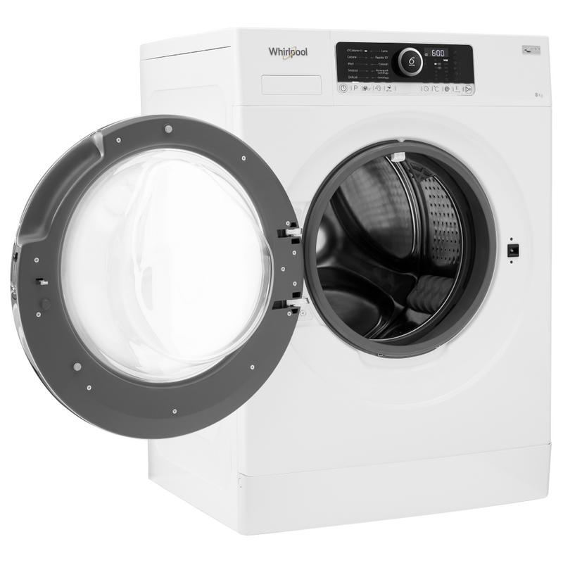Whirlpool-Lavabiancheria-A-libera-installazione-BEST-ZEN-8-Bianco-Carica-frontale-A----Perspective-open