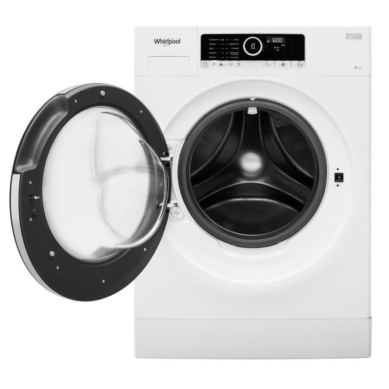 Whirlpool-Lavabiancheria-A-libera-installazione-SUPREME-8415-Bianco-Carica-frontale-A----Frontal-open