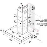 Whirlpool-Cappa-Da-incasso-AKR-558-3-IX-Inox-Montaggio-a-parete-Meccanico-Technical-drawing