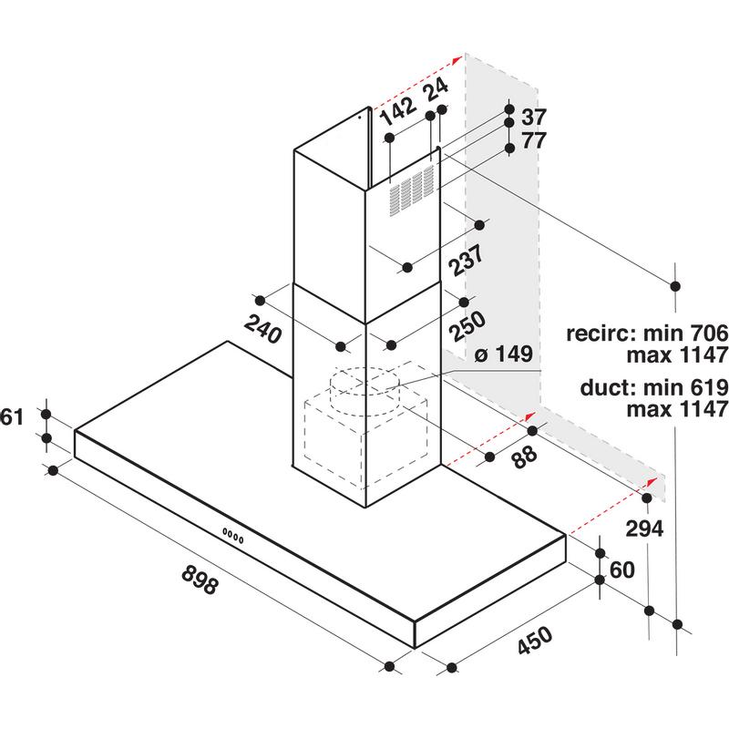 Whirlpool-Cappa-Da-incasso-AKR-559-3-IX-Inox-Montaggio-a-parete-Meccanico-Technical-drawing