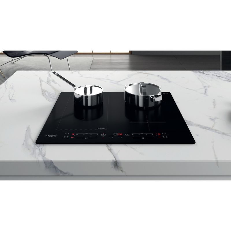 Whirlpool-Piano-cottura-WL-B8160-NE-Nero-Induction-vitroceramic-Lifestyle-frontal-top-down