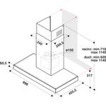 Whirlpool-Cappa-Da-incasso-WHBS-92F-LT-K-Inox-Montaggio-a-parete-Elettronico-Technical-drawing