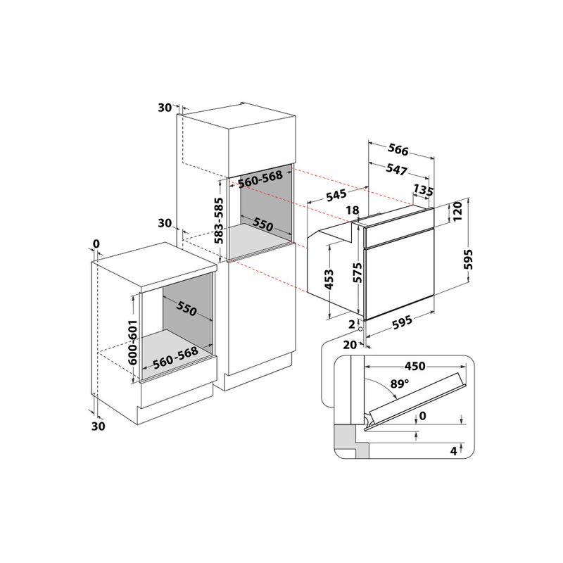 Whirlpool-Forno-Da-incasso-AKP-444-IX-Elettrico-A-Technical-drawing
