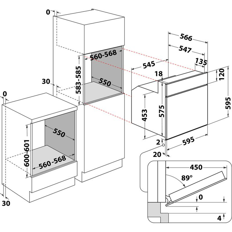 Whirlpool-Forno-Da-incasso-AKP-452-IX-Elettrico-A-Technical-drawing