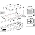 Whirlpool-Piano-cottura-WF-S0377-NE-IXL-Nero-Induction-vitroceramic-Technical-drawing