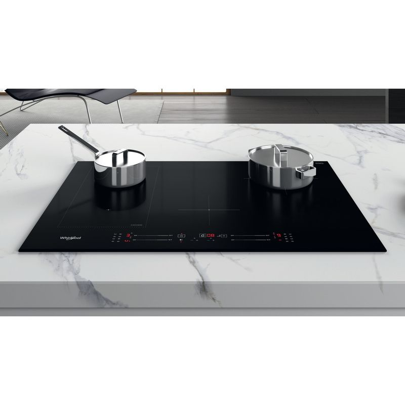 Whirlpool-Piano-cottura-WL-S3377-BF-Nero-Induction-vitroceramic-Lifestyle-frontal-top-down