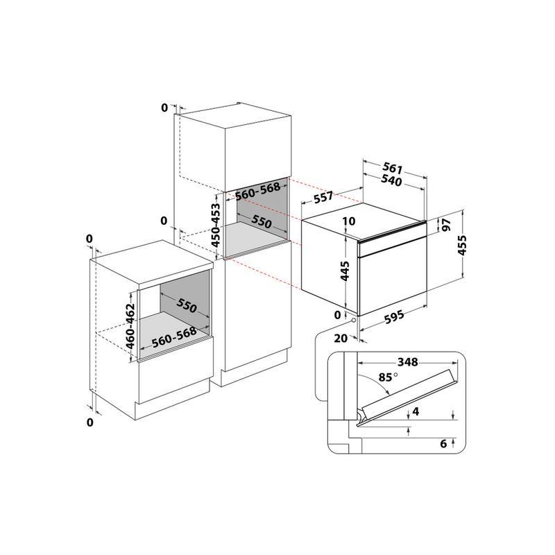 Whirlpool-Microonde-Da-incasso-W11I-ME150-Dark-Grey-Elettronico-40-Microonde-combinato-850-Technical-drawing