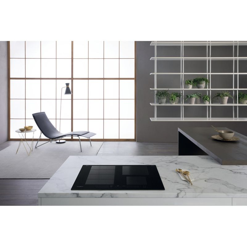 Whirlpool-Piano-cottura-WF-S0160-NE-Nero-Induction-vitroceramic-Lifestyle-frontal-top-down