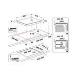Whirlpool-Piano-cottura-WF-S2765-NE-IXL-Nero-Induction-vitroceramic-Technical-drawing