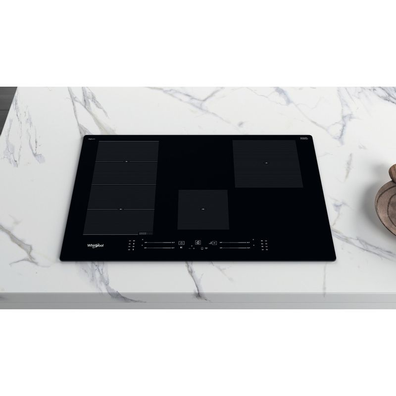 Whirlpool-Piano-cottura-WF-S5077-NE-IXL-Nero-Induction-vitroceramic-Lifestyle-frontal-top-down