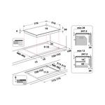 Whirlpool-Piano-cottura-WL-S5177-NE-Nero-Induction-vitroceramic-Technical-drawing