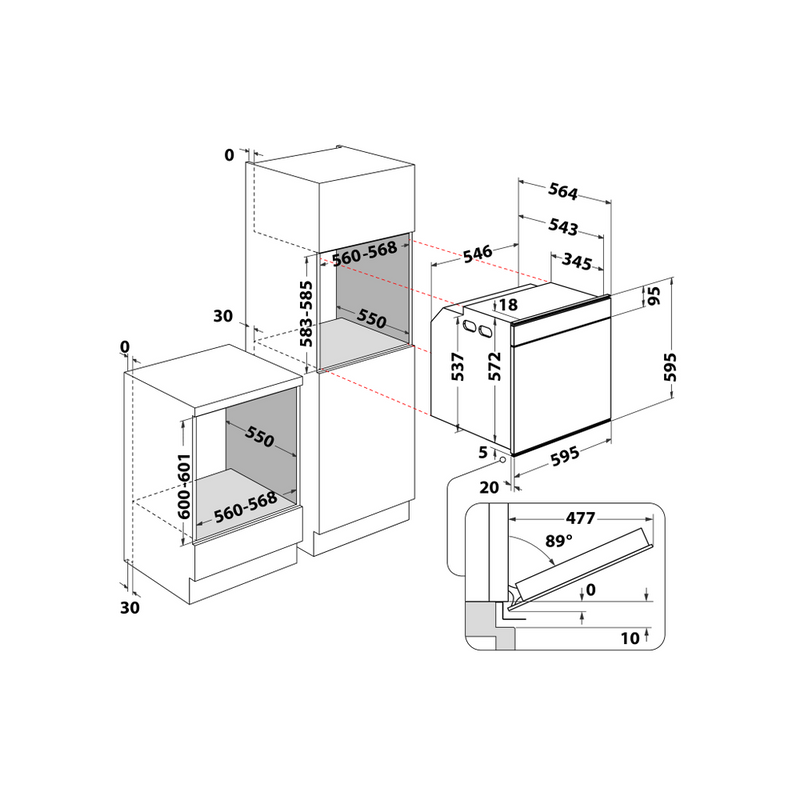 Whirlpool-Forno-Da-incasso-W11I-OP1-4S2-H-Elettrico-A--Technical-drawing