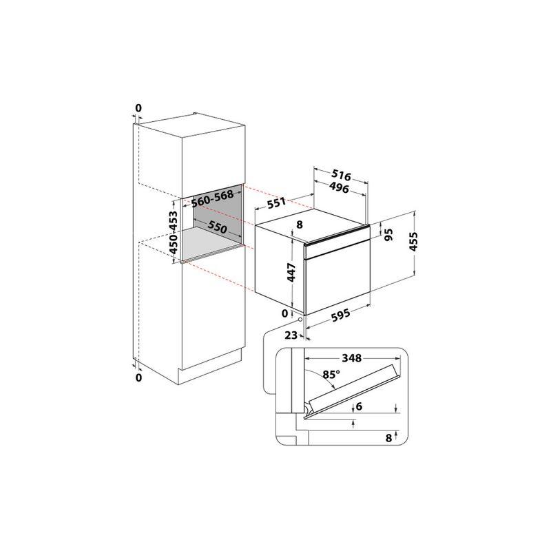 Whirlpool-Forno-Da-incasso-W7-MS450-A-Technical-drawing
