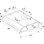 Whirlpool-Cappa-Da-incasso-WSLK-66-1-AS-X-Grigio-Montaggio-a-parete-Meccanico-Technical-drawing