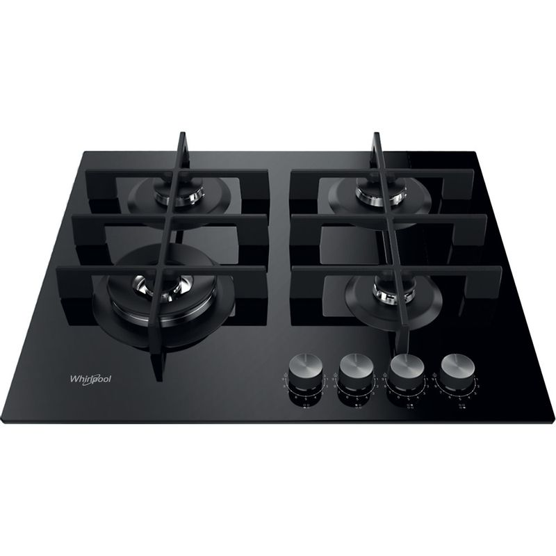 Whirlpool-Piano-cottura-GOWL-628-NB-Nero-GAS-Frontal-top-down