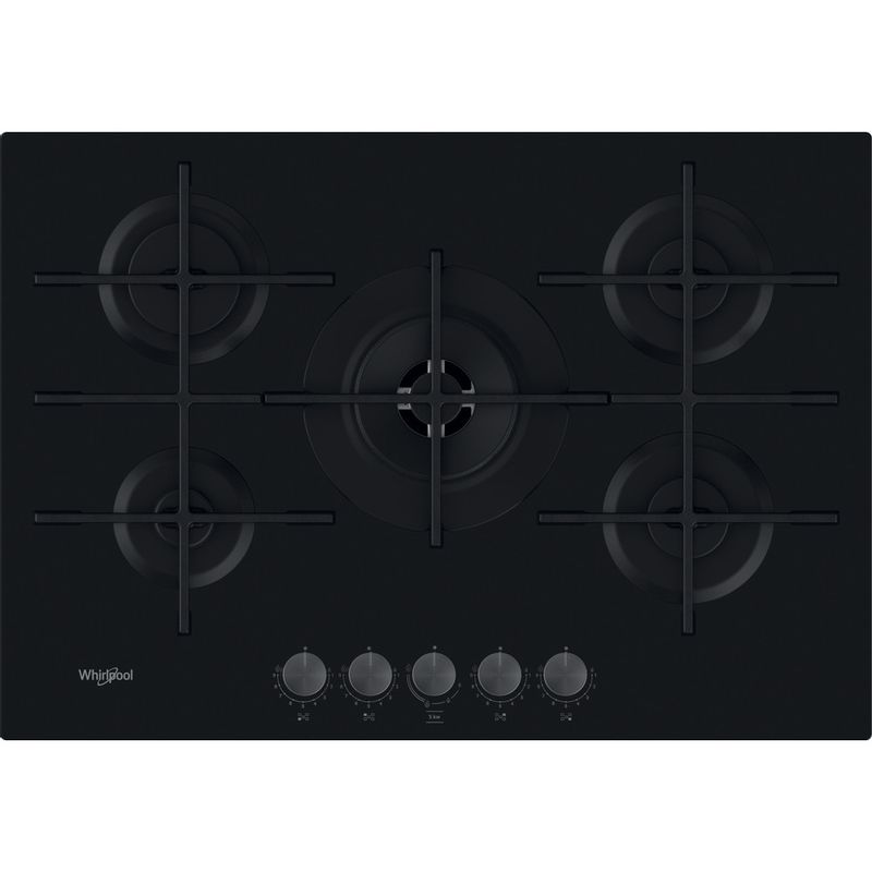 Whirlpool-Piano-cottura-GOWL-758-NB-Nero-GAS-Frontal