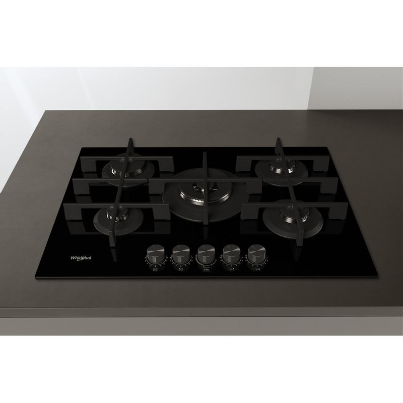 Whirlpool-Piano-cottura-GOWL-758-NB-Nero-GAS-Lifestyle-frontal-top-down