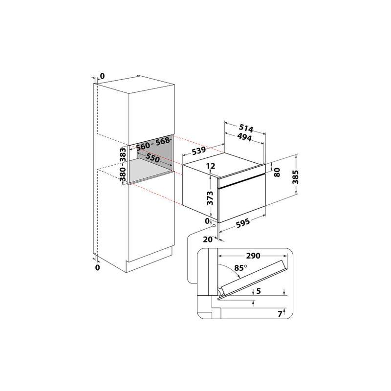 Whirlpool-Microonde-Da-incasso-W9-MD260-BSS-Black-Steel-Elettronico-31-Microonde-combinato-1000-Technical-drawing