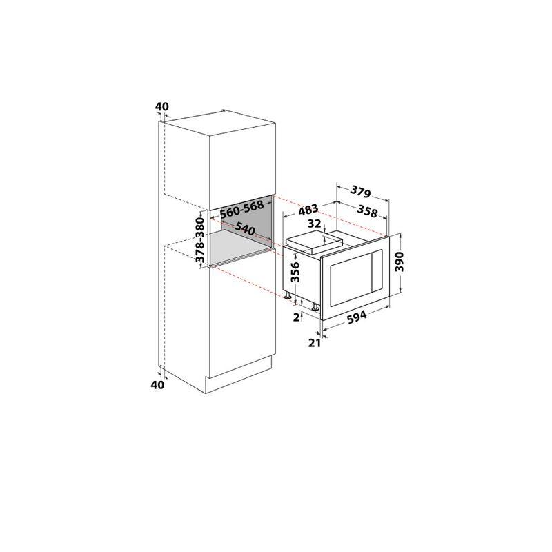 Whirlpool-Microonde-Da-incasso-WMF250G-Inox-Elettronico-25-Microonde---grill-900-Technical-drawing