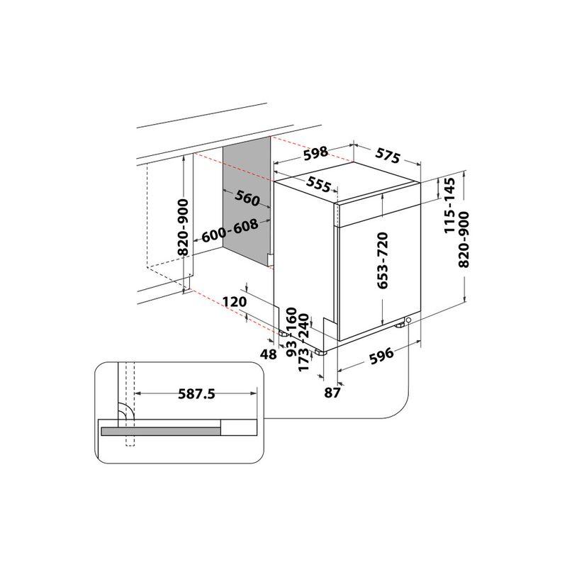 Whirlpool-Lavastoviglie-Da-incasso-WB-6020-P-X-Semi-integrato-E-Technical-drawing