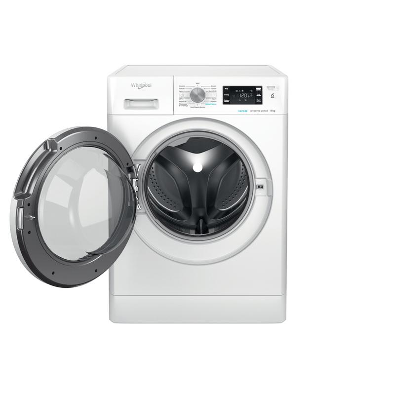 Whirlpool-Lavabiancheria-A-libera-installazione-FFB-D8-V-IT-Bianco-Carica-frontale-C-Frontal-open