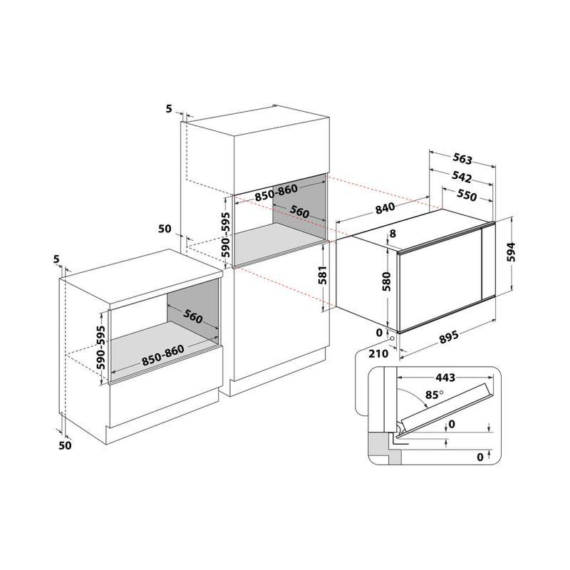 Whirlpool-Forno-Da-incasso-MSA-K5V-IX-WH-Elettrico-A-Technical-drawing