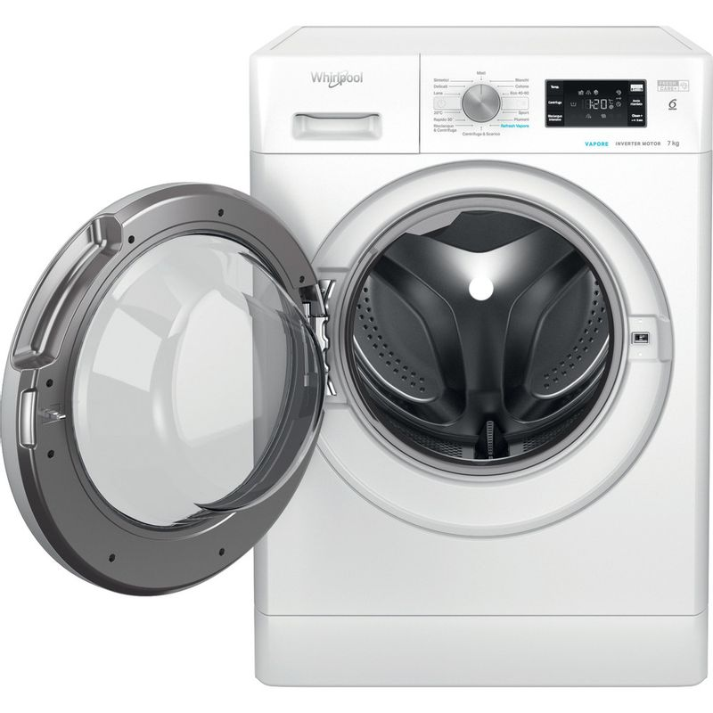 Whirlpool-Lavabiancheria-A-libera-installazione-FFB-7238-SV-IT-Bianco-Carica-frontale-D-Frontal-open