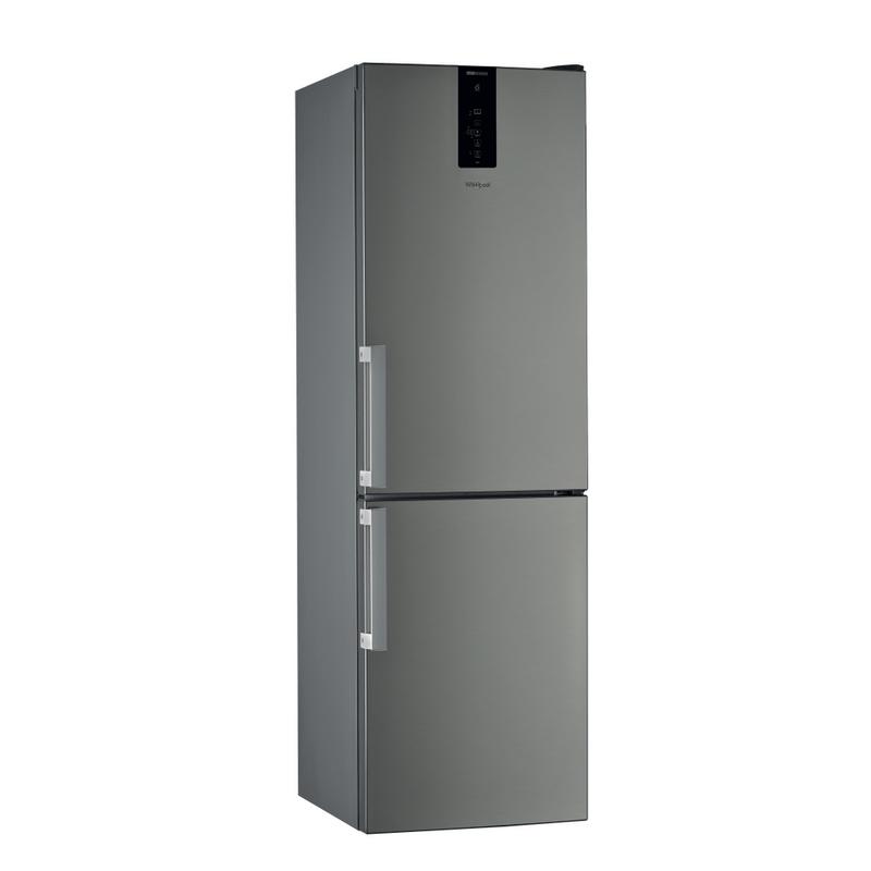 Whirlpool-Combinazione-Frigorifero-Congelatore-A-libera-installazione-W9-831D-IX-H-Inox-2-porte-Perspective