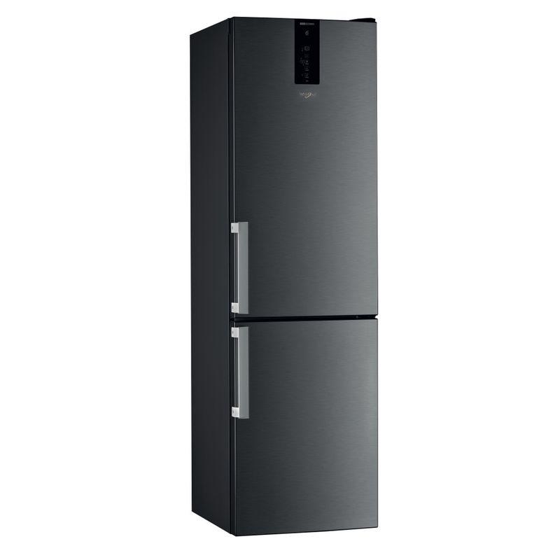 Whirlpool-Combinazione-Frigorifero-Congelatore-A-libera-installazione-W9-931D-KS-H-Nero-inox-2-porte-Perspective
