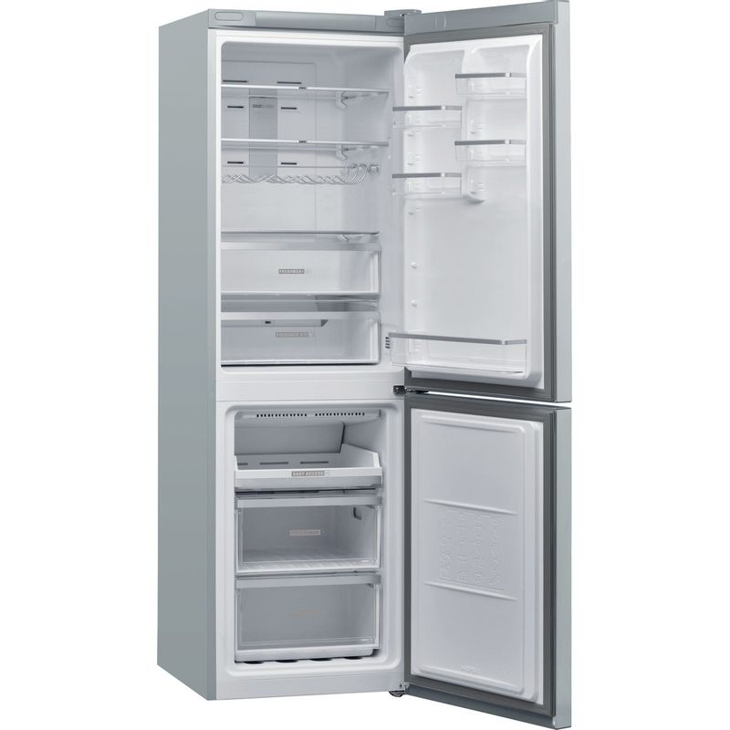 Whirlpool-Combinazione-Frigorifero-Congelatore-A-libera-installazione-W7-831T-MX-Specchio-inox-2-porte-Perspective-open