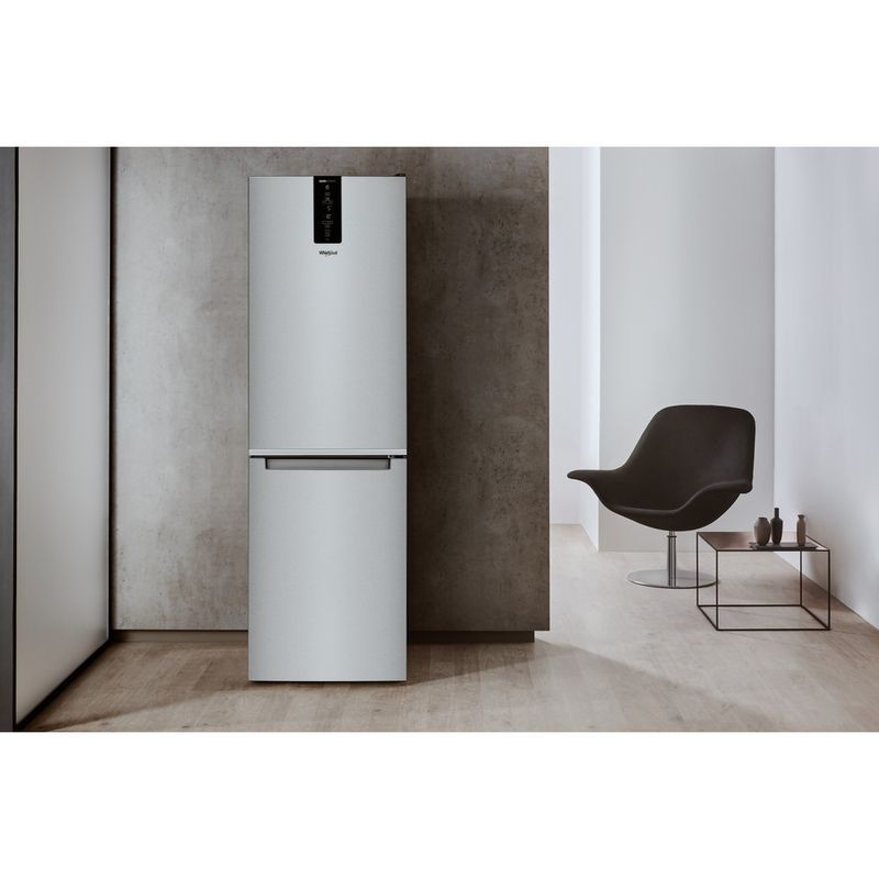 Whirlpool-Combinazione-Frigorifero-Congelatore-A-libera-installazione-W7-831T-MX-Specchio-inox-2-porte-Lifestyle-frontal