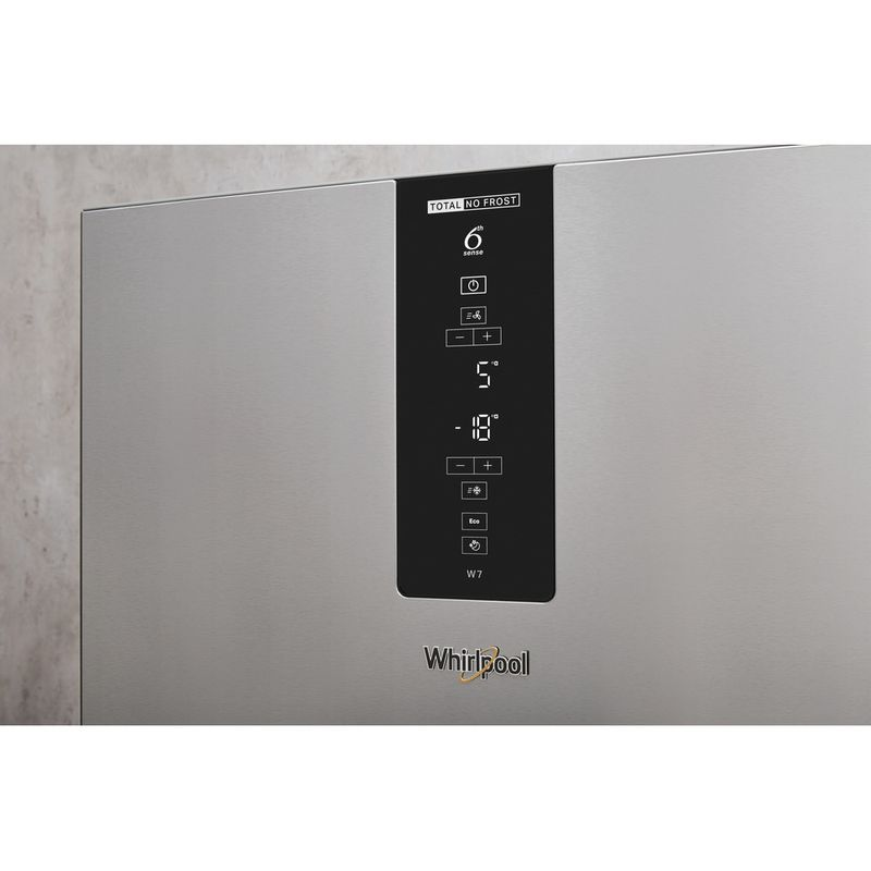 Whirlpool-Combinazione-Frigorifero-Congelatore-A-libera-installazione-W7-831T-MX-Specchio-inox-2-porte-Lifestyle-control-panel