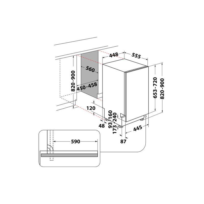 Whirlpool-Lavastoviglie-Da-incasso-WSIC-3M17-C-Totalmente-integrato-F-Technical-drawing