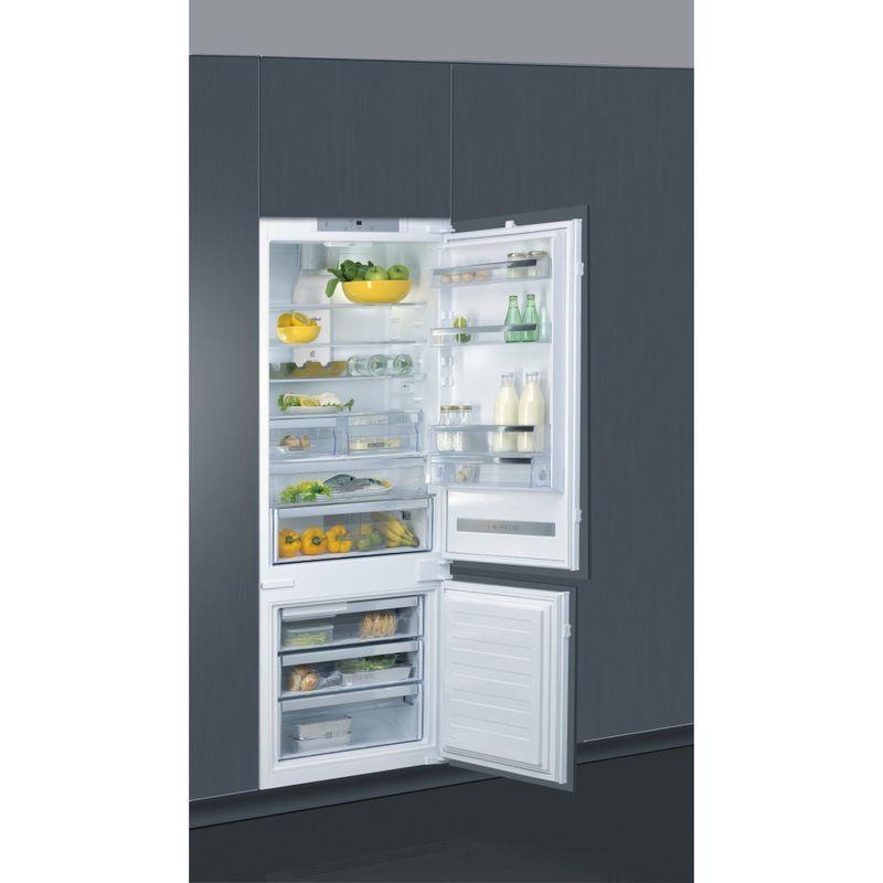 Whirlpool-Combinazione-Frigorifero-Congelatore-Da-incasso-SP40-802-2-Bianco-2-porte-Perspective-open