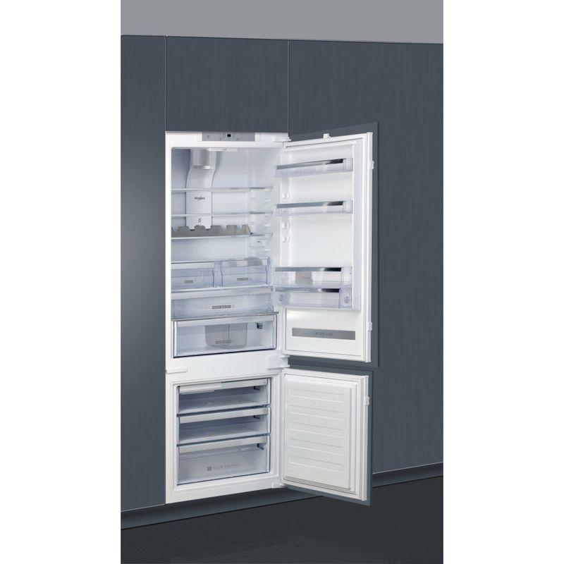 Whirlpool-Combinazione-Frigorifero-Congelatore-Da-incasso-SP40-802-2-Bianco-2-porte-Lifestyle-perspective-open