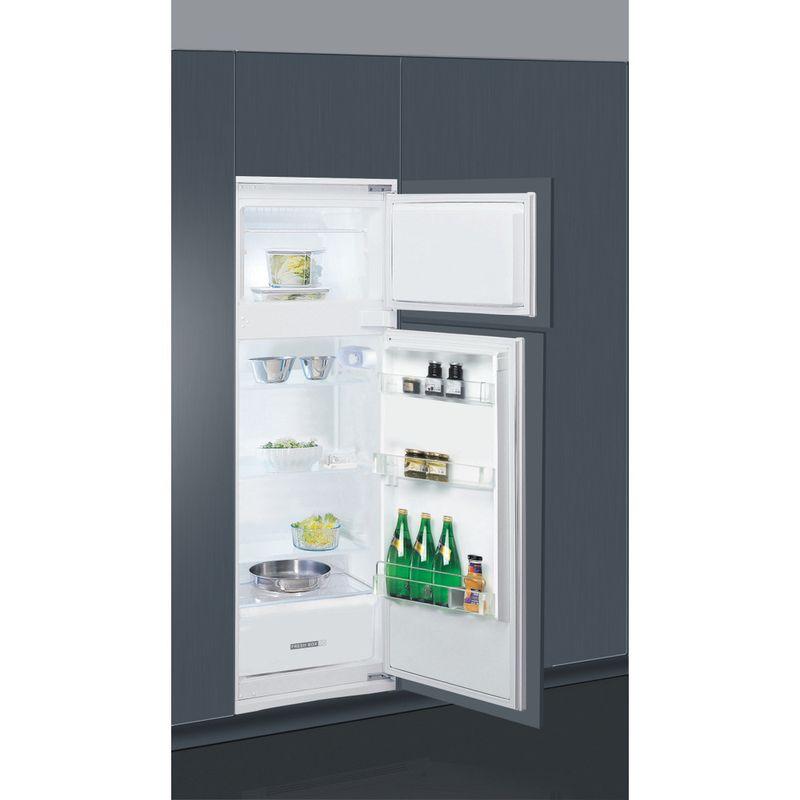 Whirlpool-Combinazione-Frigorifero-Congelatore-Da-incasso-ART-3671-Bianco-2-porte-Perspective-open