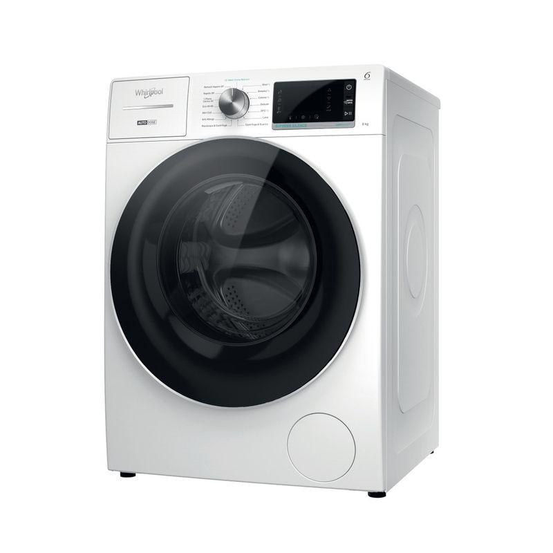 Whirlpool-Lavabiancheria-A-libera-installazione-W8-W846WR-IT-Bianco-Carica-frontale-A-Perspective