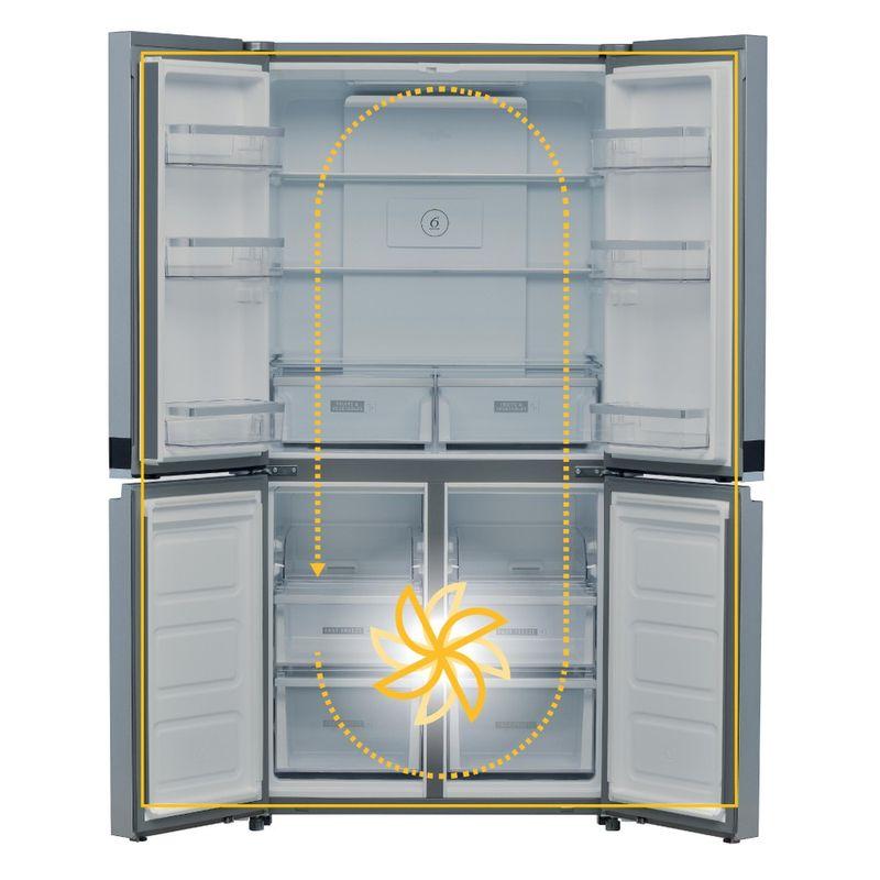 Whirlpool-Side-by-side-A-libera-installazione-WQ9-B1L-Inox-Frontal-open