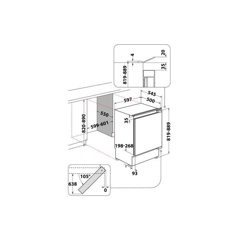 Whirlpool-Frigorifero-Da-incasso-ARG-913-1-Bianco-Technical-drawing